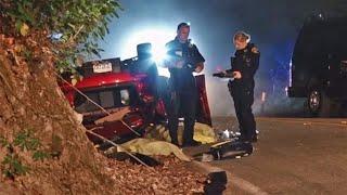 Raw Video: Fatal Crash Near San Leandro Reservoir