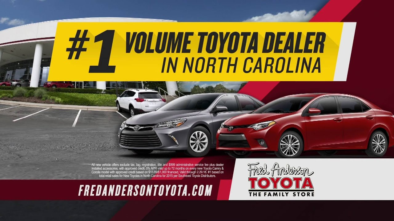 fred anderson toyota first big sale youtube