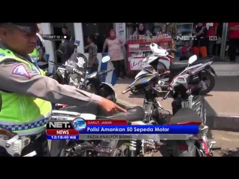 Razia Knalpot Motor Bersuara Bising Di Garut -NET12