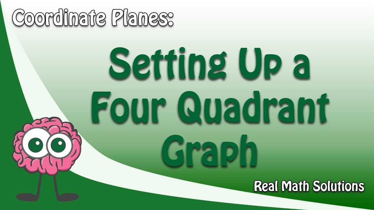 Coordinate Planes Setting Up A Four Quadrant Graph Youtube