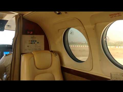 Landing in Udaipur, Rajasthan by Charter Flight