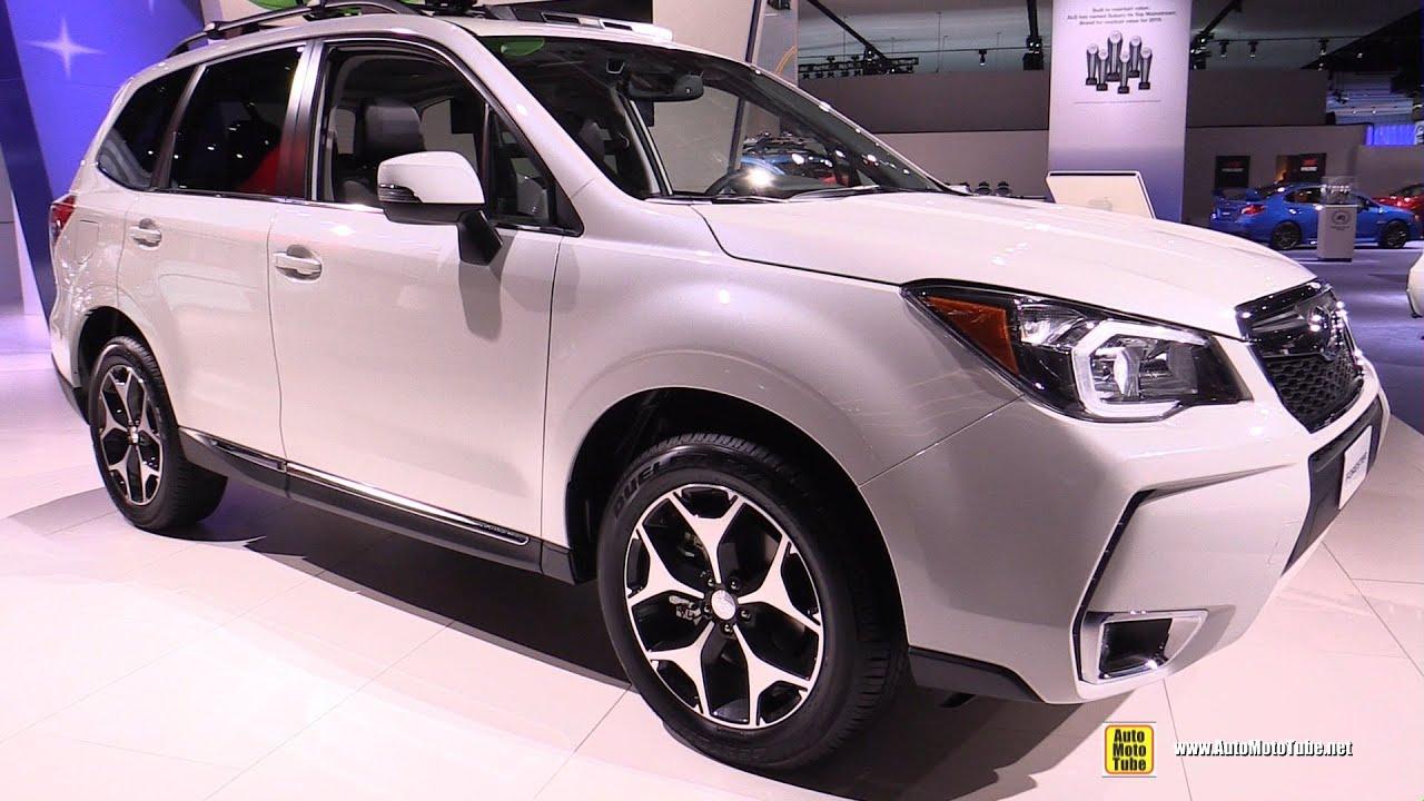 Subaru Forester 2 0 Xt Premium >> 2016 Subaru Forester XT - Exterior and Interior Walkaround - 2016 Detroit Auto Show - YouTube