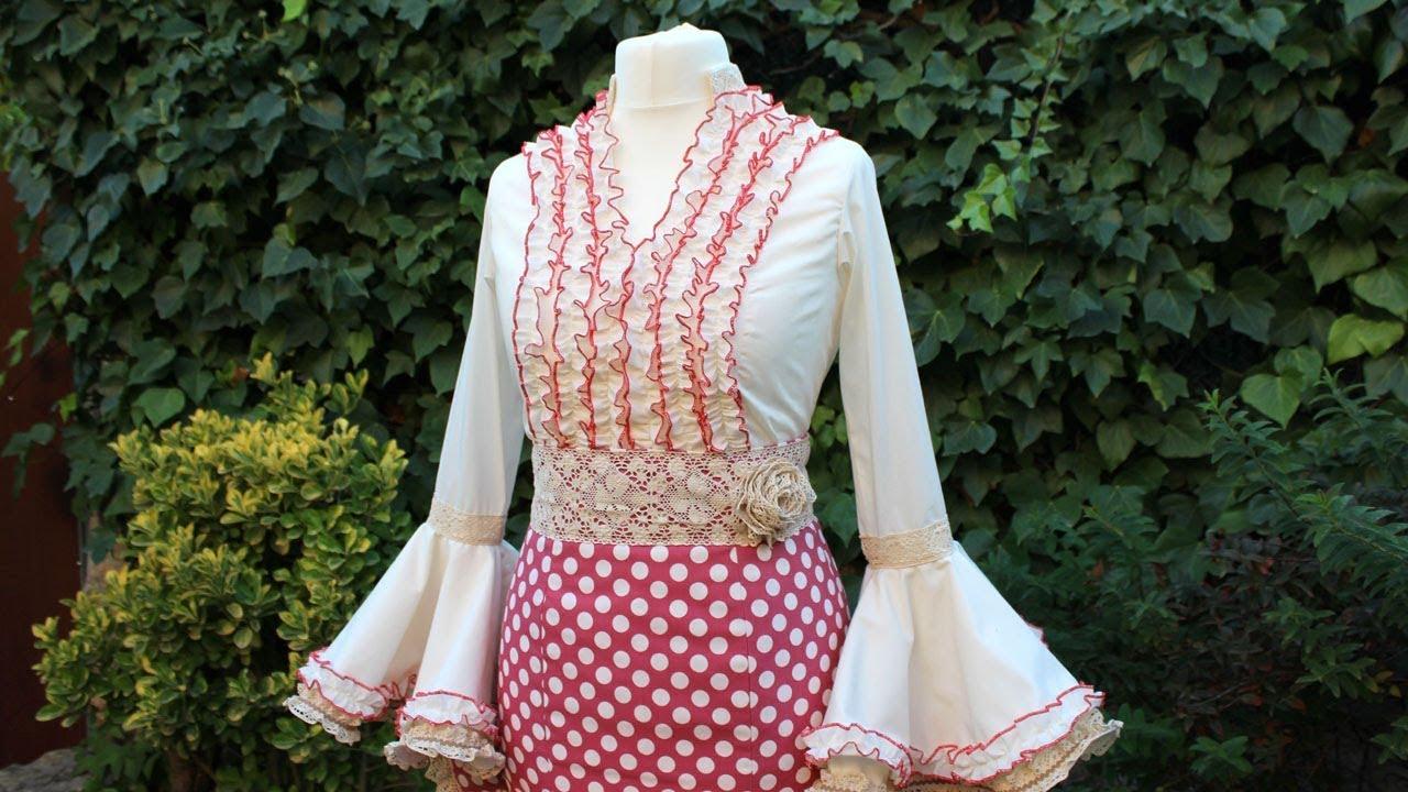feddda795 Blusa flamenca de mujer. Como hacer una blusa de mujer.