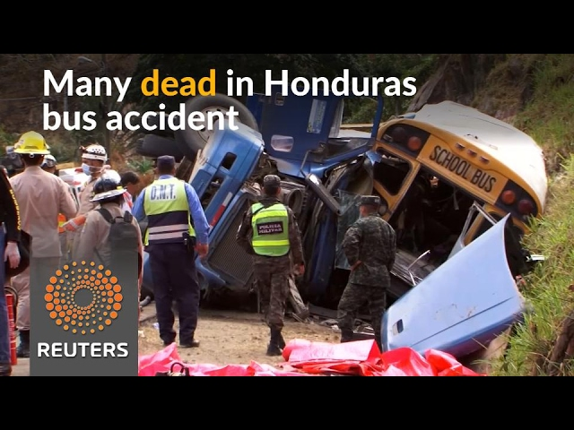 Many dead in Honduras bus crash
