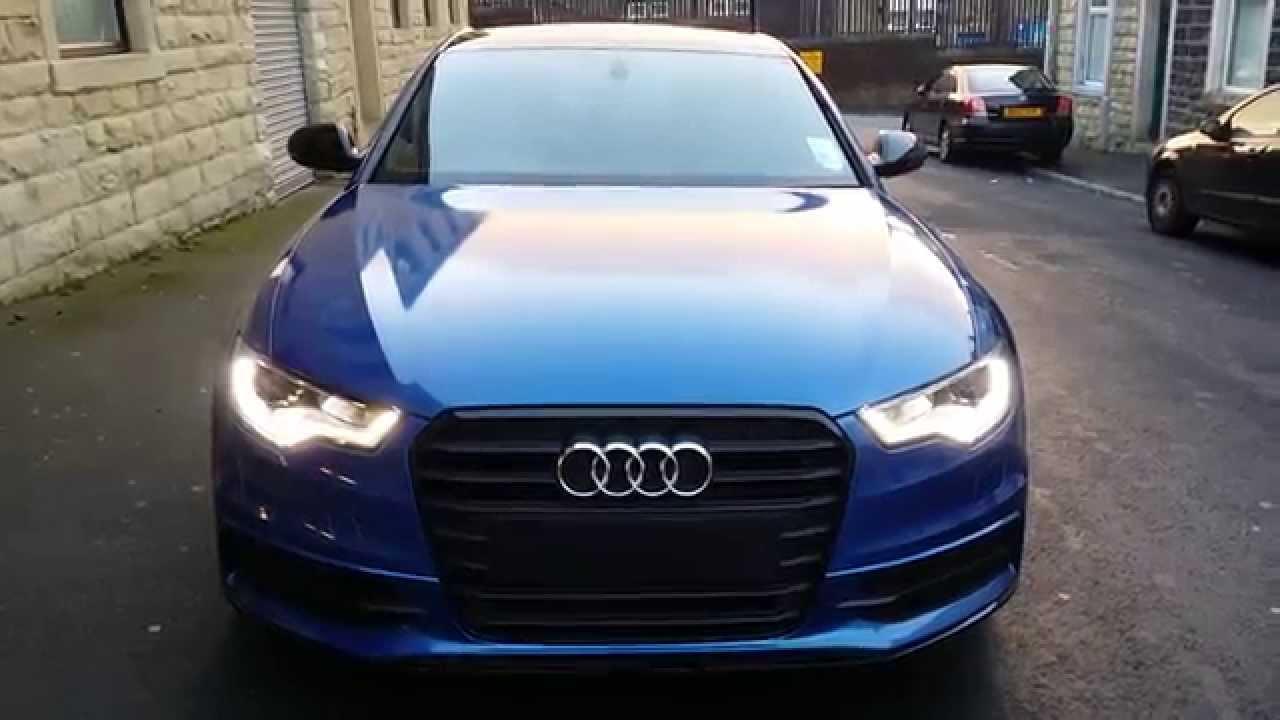 Audi A6 Black Edition Arlon Daytona Blue Wrap 360 Youtube