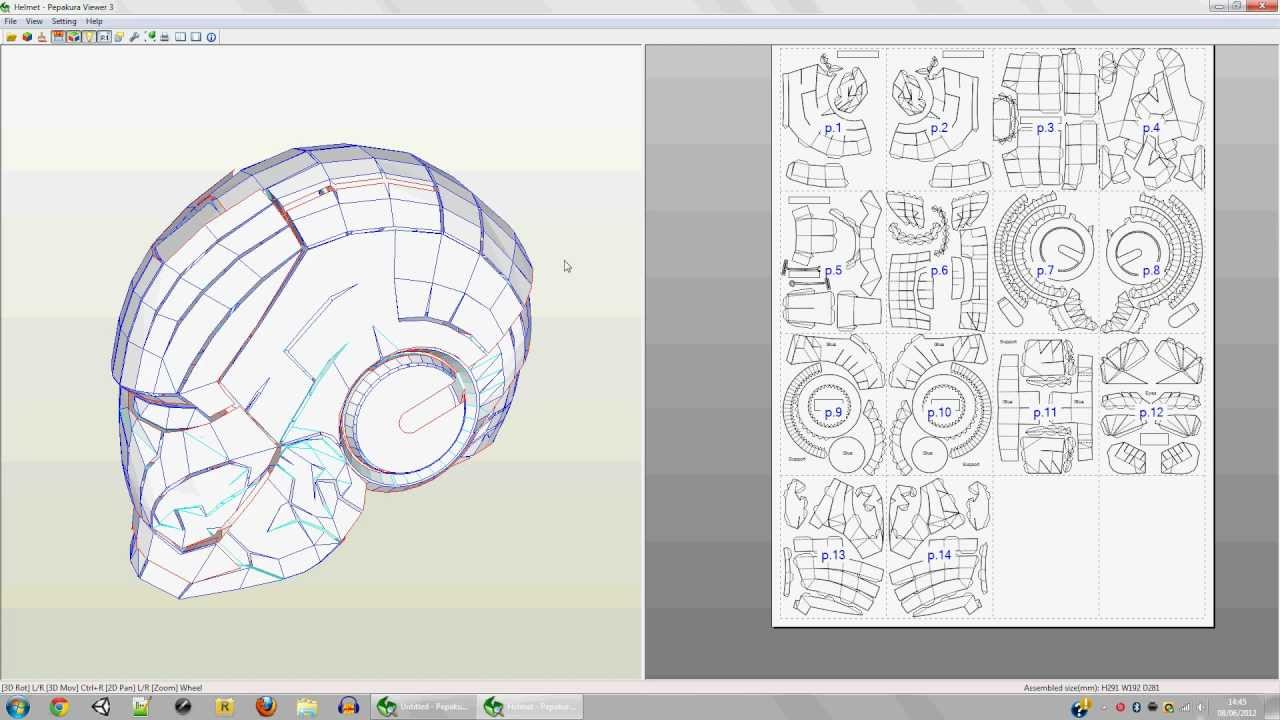 How To Make A Papercraft Mask Youtube