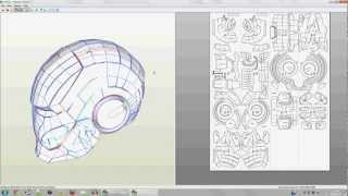 How to make a papercraft mask.