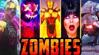 ALL ZOMBIES EASTER EGGS!! // IW ZOMBIES!