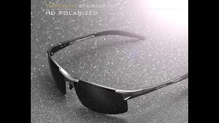 VEITHDIA Aluminum Mens Sunglasses Sport Polarized Driving Eyewear UNBOXING REVIEW ALIEXPRESS