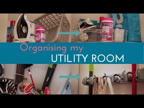 Organising my utility room!  Small space storage
