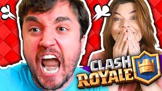 COMO PÔR SEU CASAMENTO EM RISCO! - Clash Royale em Dupla.