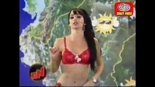 MAYLIN OTERO LA CHICA DEL TIEMPO con lenceria roja