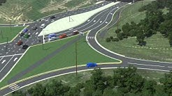 I-75 I-71 DCD interchange at Mt.Zion Road (KY 536) in Florence, Kentucky  75crossings.com
