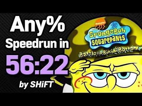 SpongeBob SquarePants: Battle for Bikini Bottom Any% Speedrun in 56:22 (WR on 6/3/2018)