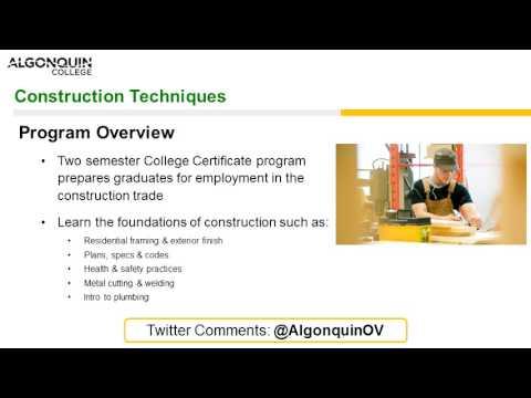 Construction Techniques Webinar