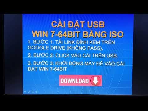 DOWNLOAD WIN 7 64BIT và CÀI WIN 7 64BIT bằng USB sử dụng ISO