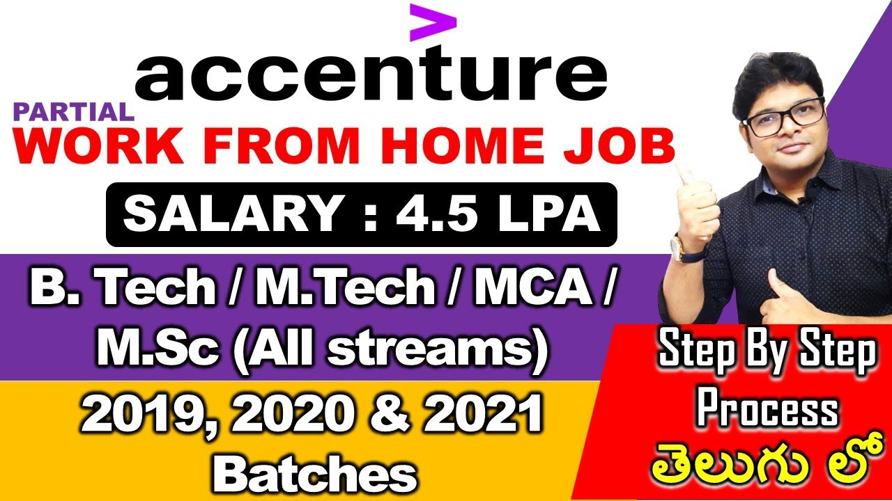 Accenture New Recruitment 2021 in Telugu   Accenture work from home jobs   Latest Jobs 2021