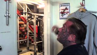 Lee Priest Does Some Chin Ups Offseason