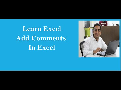 MS Excel : Insert Comments In Excel