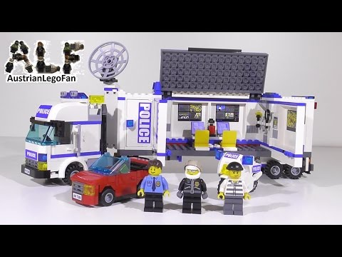 Lego City 7288 Mobile Police Unit / Polizei Truck - Lego Speed Build Review