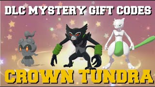 NEW DLC MYSTERY GIFT CODES YOU CAN USE NOW! POKEMON SWORD AND SHIELD MYSTERY GIFTS (CROWN TUNDRA)