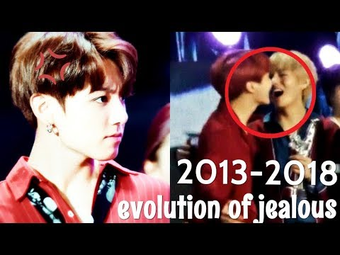 when jungkook is jealous and angry | evolution of jealousy [2013-2018] VKOOK (TAEKOOK)