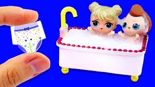 13 DIY Barbie Hacks and Crafts - Making Miniature Baby Set for Barbie Doll #3