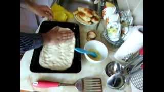 Пирожки с начинкой из плавленного сыра и Матнакаш(Армянский хлеб)