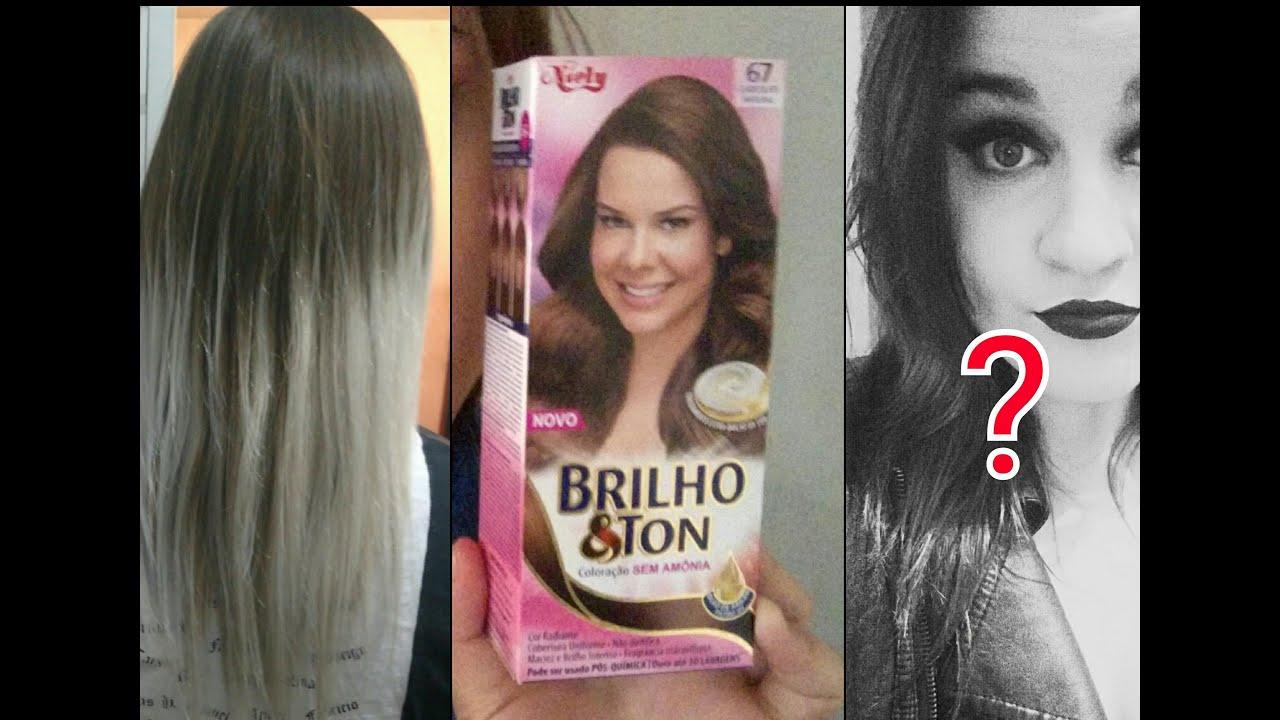 Famosos Pintando o cabelo - Brilho&Ton Chocolate 67 - Do loiro ao  MO49