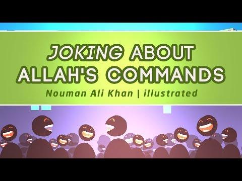 Joking About Allah's Commands   Nouman Ali Khan   illustrated   Subtitled