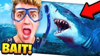 USING MYSELF AS SHARKBAIT!! Raft #5