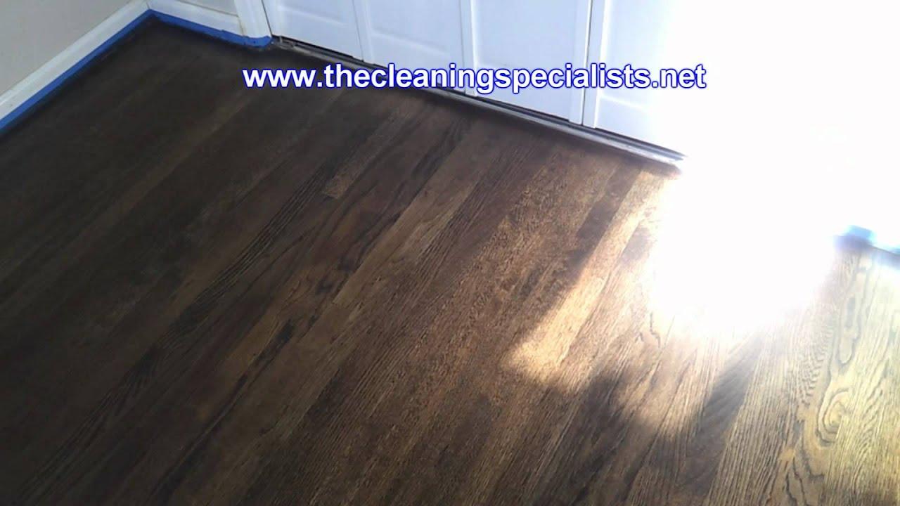 San Diego Hardwood Floor Staining, Polishing And Sealing: No Dust, No Odors    YouTube
