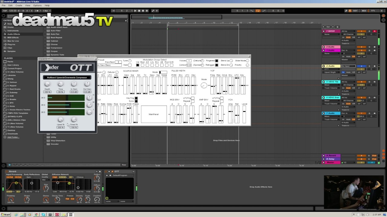 Deadmau5 sound design with SH101 : Strobe2