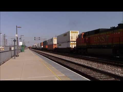 Railfanning Commerce Metrolink Station Part 1 6/7/2015 feat. AMTK 145