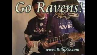 Baltimore Ravens Guitar - Billy Zee cover Seven Nations Army white stripes