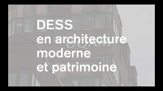 Le DESS en architecture moderne et patrimoine à l'École de design de l'UQAM