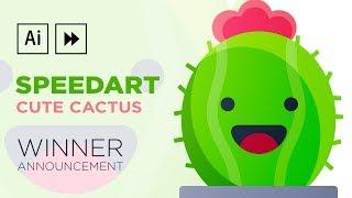 Adobe Illustrator Speedart | Cute Cactus Illustration