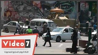 بالفيديو.. كمائن ثابتة ومتحركة بميدانى التحرير وطلعت حرب تحسبا لإرهاب الإخوان