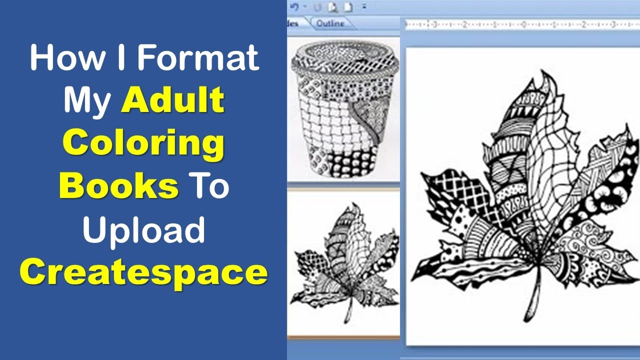 how i format my adult coloring book to upload to createspace microsoft powerpoint 2007 mcj book publishing - Publish Your Own Coloring Book