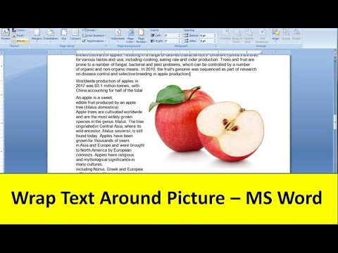 Wrap Text around Picture - MS Word