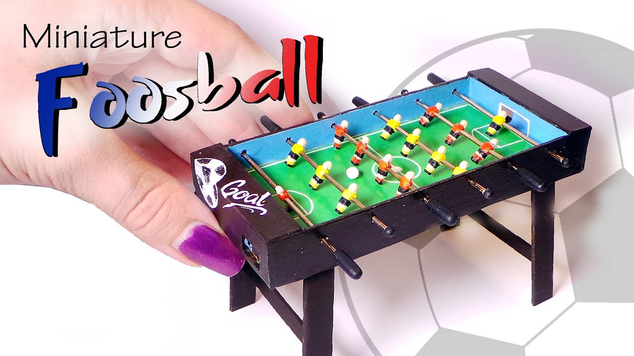 Miniature Foosball Table Tutorial Working Dolls Dollhouse