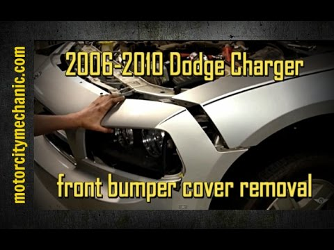 2006 2010 Dodge Charger Front Bumper Cover Removal Youtube