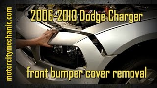 2006-2010 Dodge Charger front bumper cover removal