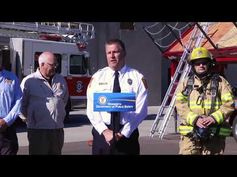 DPS News Conference: FireVent Trailers Help Firefighters Learn Life-Saving Skills