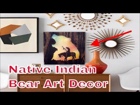 Native Indian Bear Art Decor