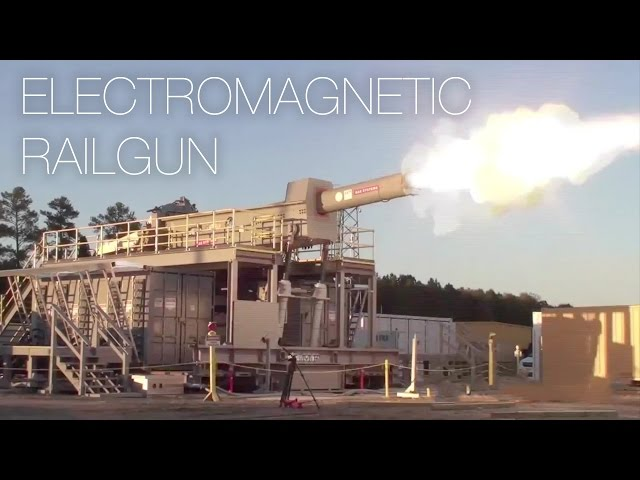 U.S. Military's Electromagnetic Railgun Fires Projectile At 4,500mph