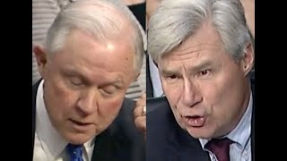 """IT SAYS IT RIGHT THERE!!!"" Sheldon Whitehouse CONFRONTS Jeff Sessions on His BS Defense of Trump"