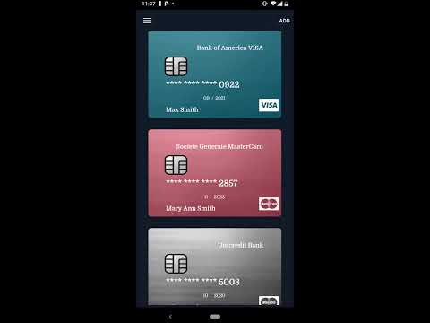 Credit Card Manager App For IOS And Android