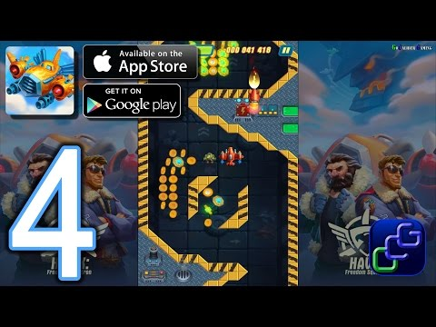 HAWK Freedom Squadron Android IOS Walkthrough - Part 4 - Stages 16-19 EASY, 1-2 NORMAL