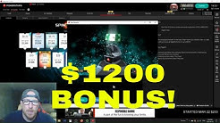 UNLOCKING $1200 BONUS!! CASH OUT TIME!!